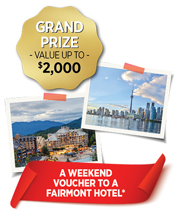 Grand Prize value up to $2,000
